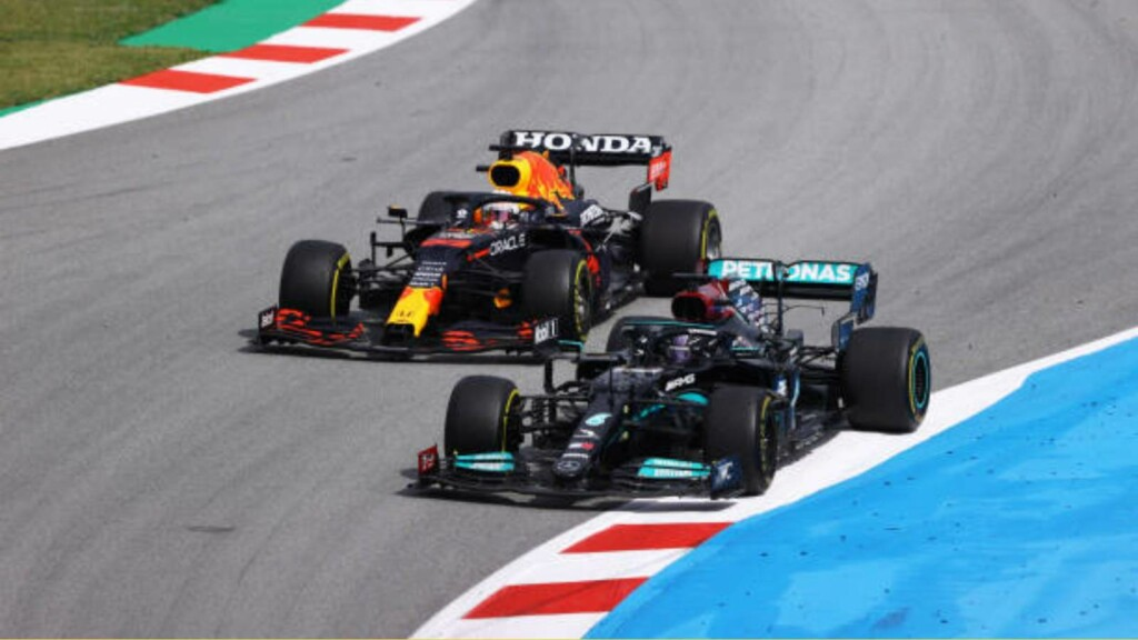 Red Bull and Mercedes