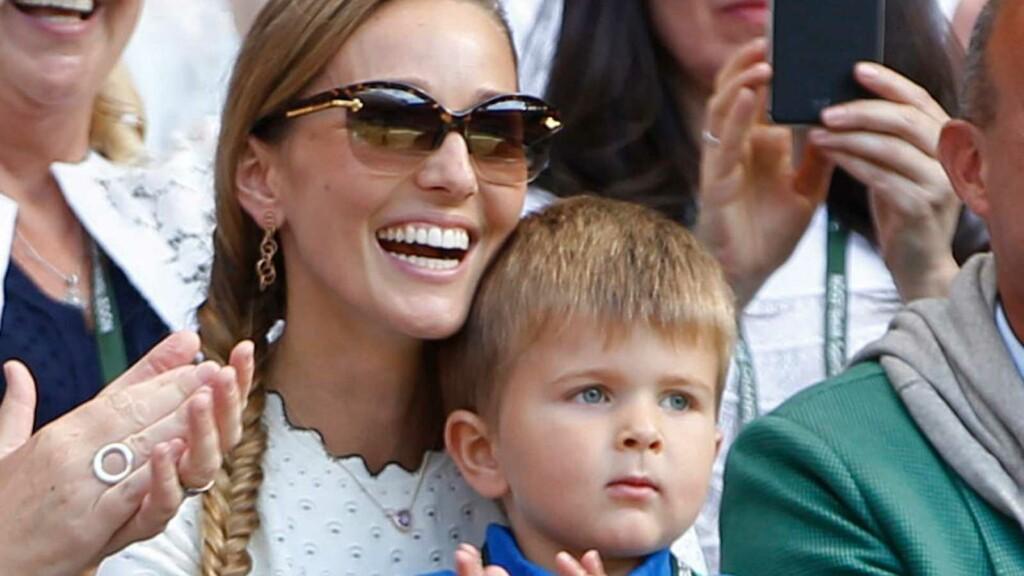 Jelena Djokovic and her son