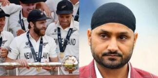 New Zealand Cricket Team and Harbhajan Singh