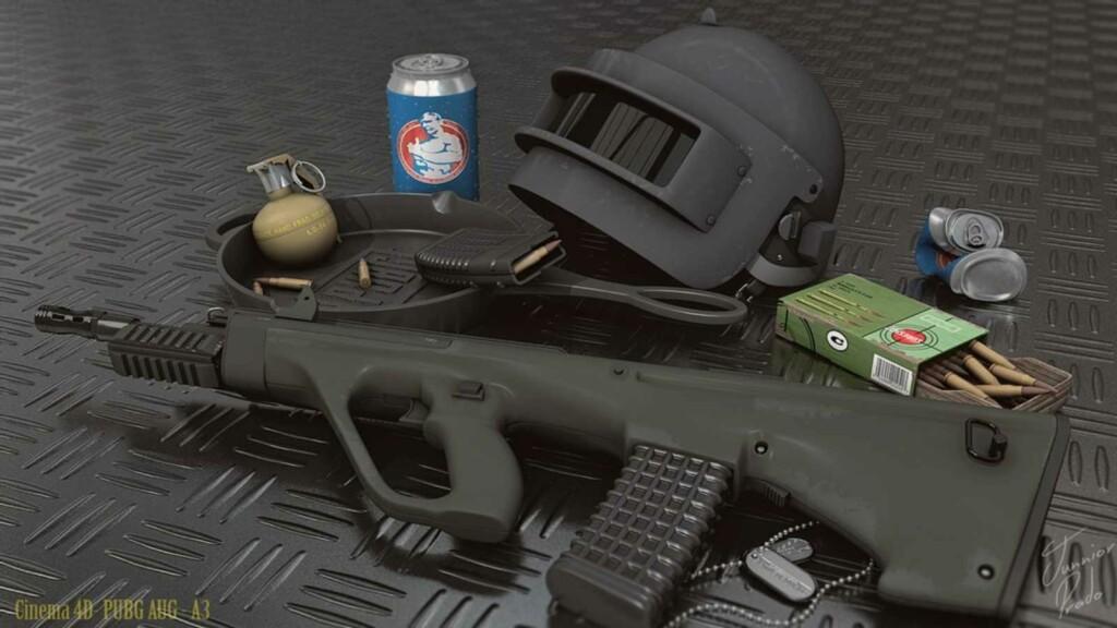 AUG A3 - Best Assault Rifles(ARs) in BGMI