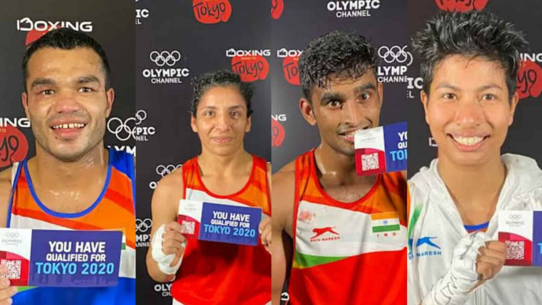 Indian boxers going to the Tokyo Olympics