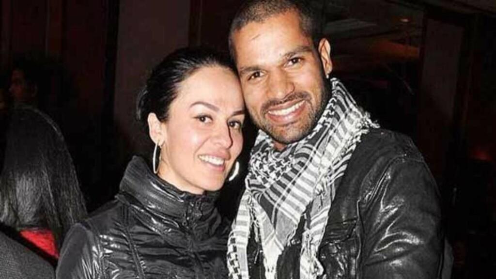 Shikhar Dhawan and his wife