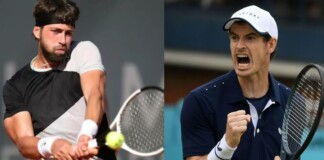 Nikoloz Basilashvili and Andy Murray