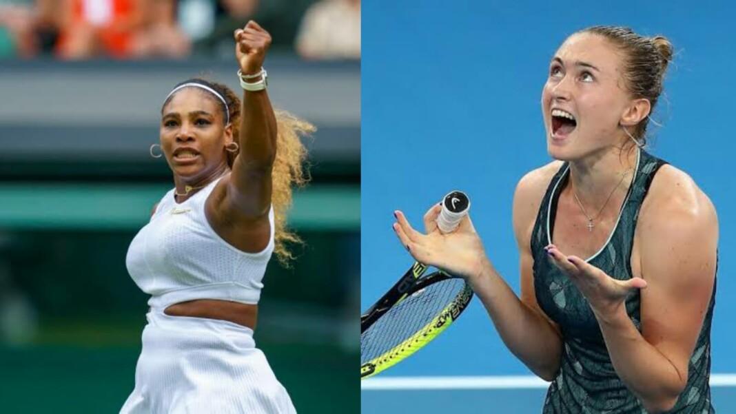 Serena Williams and Aliaksandra Sasnovich