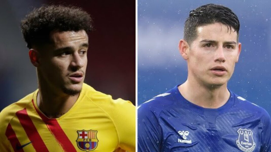 Philippe Coutinho and James Rodriguez