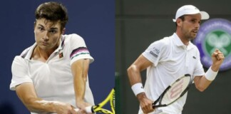 Miomir Kecmanovic and Roberto Bautista Agut