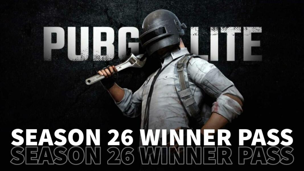 PUBG Mobile Lite: Season 26 Winner Pass leaked rewards and more revealed