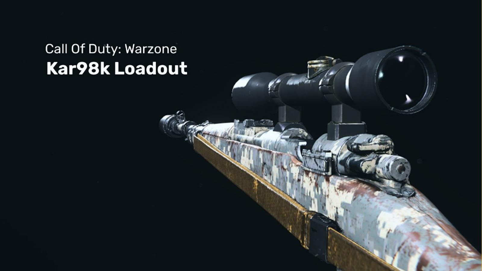 COD Warzone: The Best KAR 98K Warzone Loadout