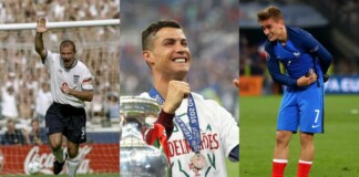 All Time Top-5 goal scorers in Euros