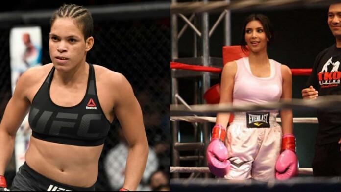 Amanda Nunes challenged Kim Kardashian