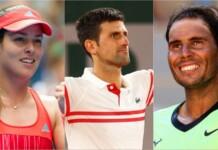 Ana Ivanovic, Novak Djokoivc, Rafael Nadal