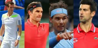 Andy Murray, Roger Federer, Rafael Nadal and Novak Djokovic