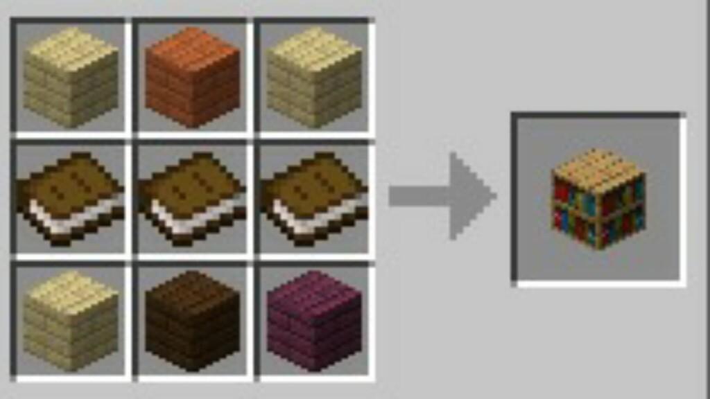 Bookshelf in Minecraft