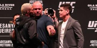 Brandon Moreno vs Deiveson Figueiredo face off
