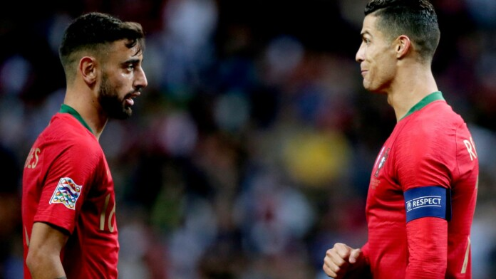 Bruno fernandes and Cristiano Ronaldo