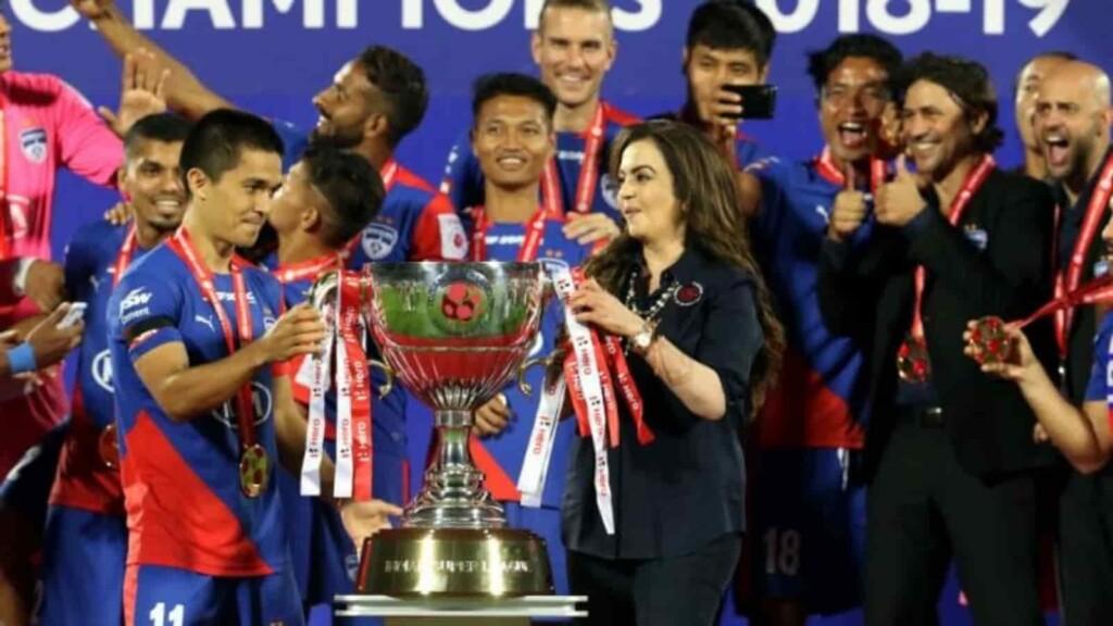 Chhetri lifted the Hero ISL with Bengaluru