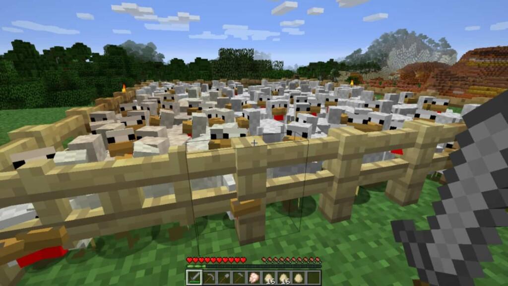 Chickens in Minecraft