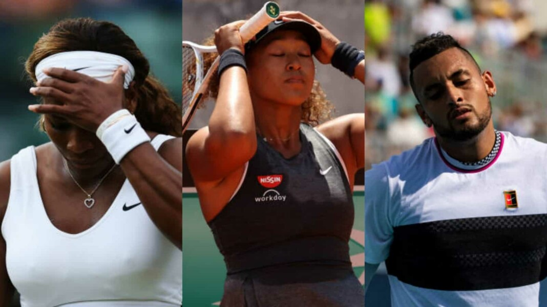 Serena Williams, Naomi Osaka and Nick Kyrgios