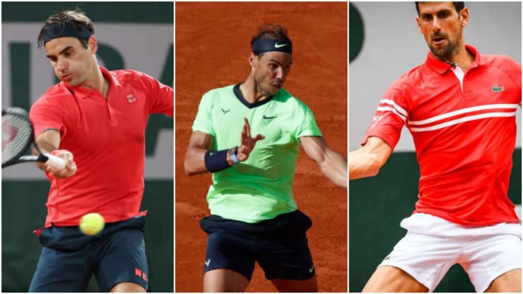 Roger Federer, Rafael Nadal and Novak Djokovic