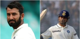 Cheteshwar Pujara and Sachin Tendulkar