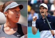 Naomi Osaka and Andy Murray