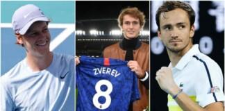 Jannik Sinner, Alexander Zverev and Daniil Medvedev