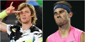 Andrey Rublev and Rafael Nadal