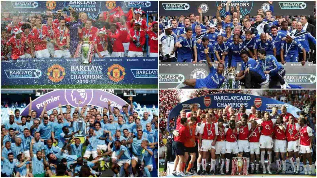 The four most successful clubs of the Premier Leaguer era