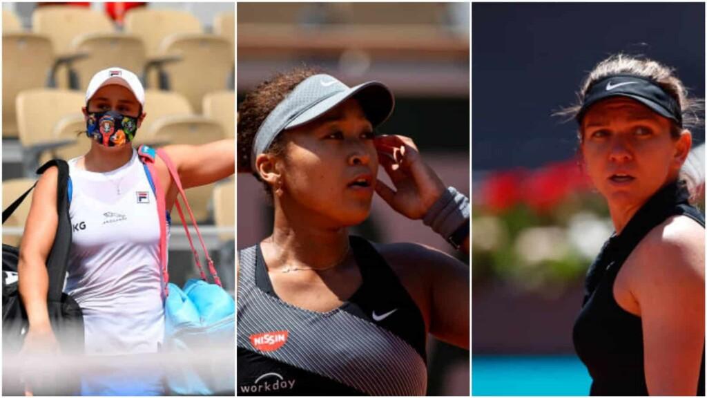 Ash Barty, Naomi Osaka and Simona Halep