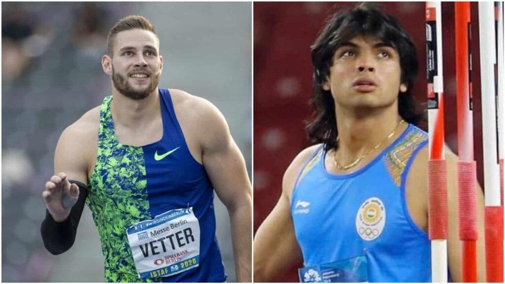 Johannes Vetter and Neeraj Chopra will faceoff before Tokyo Olympics