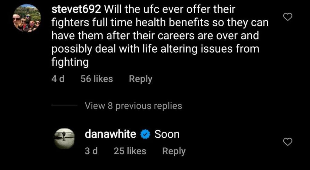 Dana White health benefits