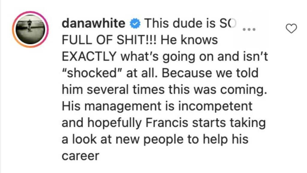 Dana White's comment