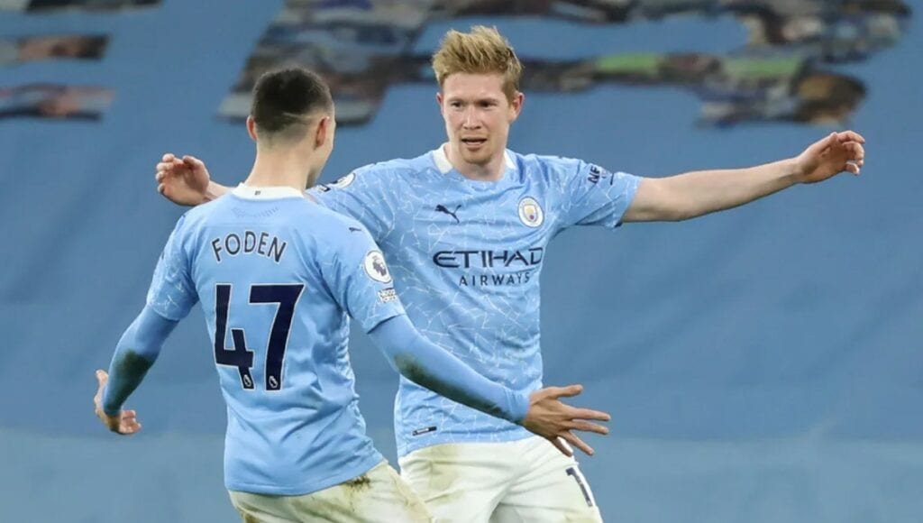 De Bruyne and Foden the award winners from Manchester City