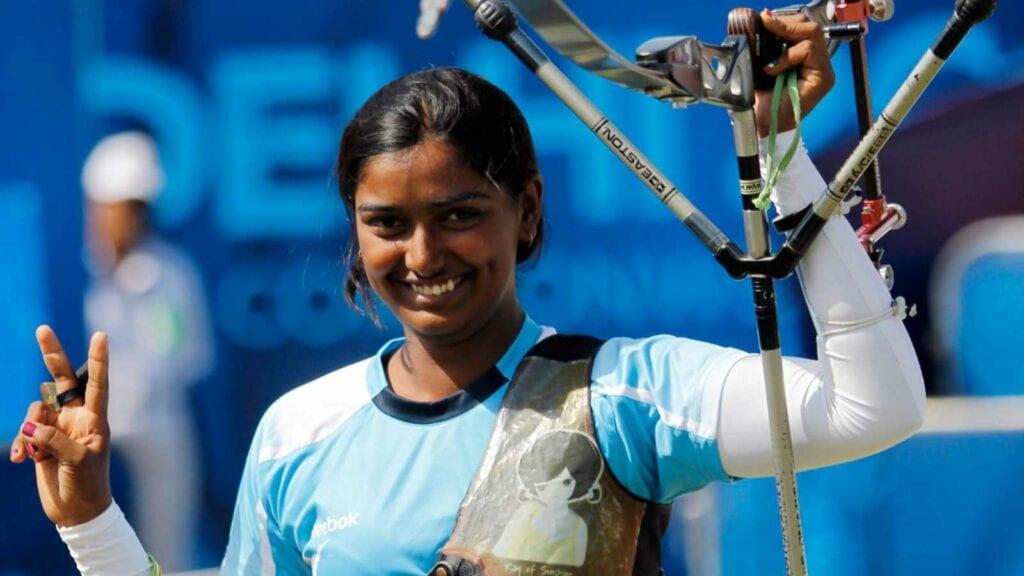 Deepika Kumari Delhi 2010 - FirstSportz