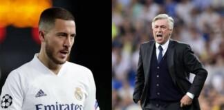 Eden Hazard and Carlo Ancelotti