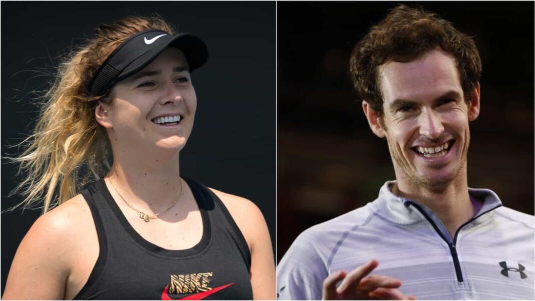 Elina Svitolina and Andy Murray