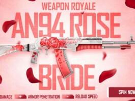 Free Fire AN94 Rose Bride