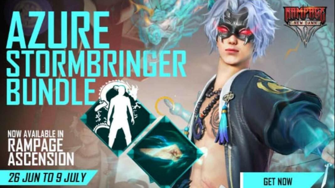 Free Fire Azure Stormbringer Bundle