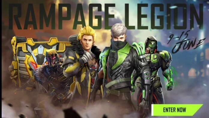 Free Fire Rampage Legion