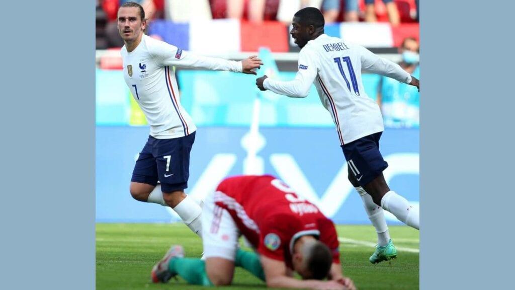 Griezmann scored the equaliser for France