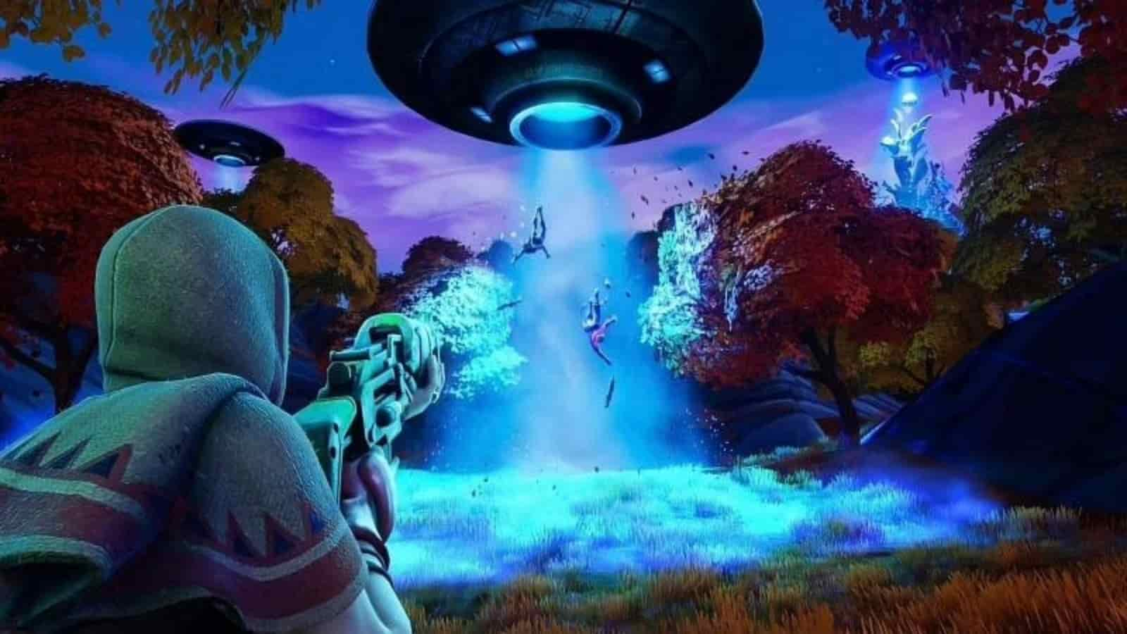 Aliens in Fortnite - Where are the Fortnite UFOs and How to Get abducted by Aliens