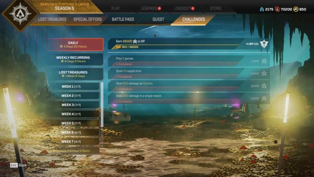 Apex Legends Missions
