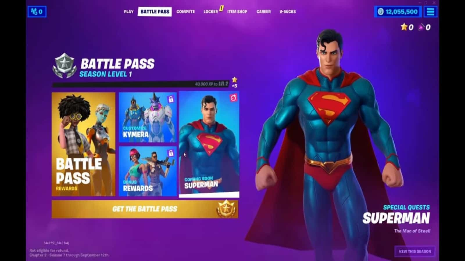 Fortnite Season 7 Superman and Rick Sanchez Skins