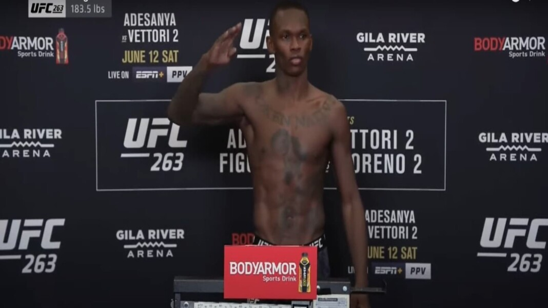 Israel Adesanya UFC 263 weigh ins