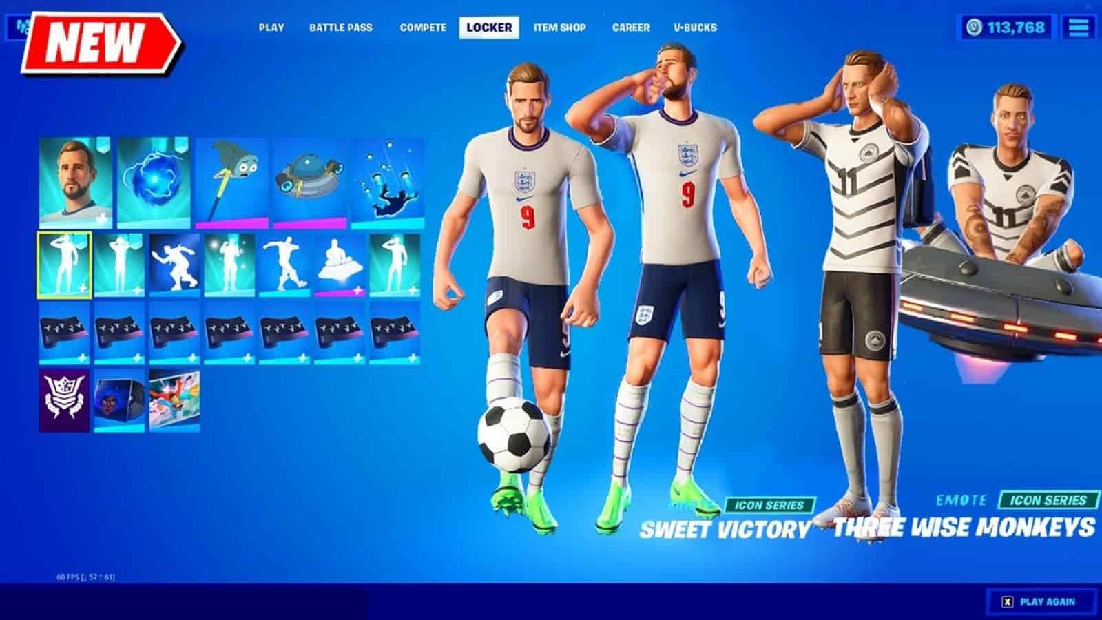 Fortnite Icon Series Harry Kane Marco Reus Skins Reveal Firstsportz