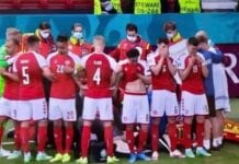 Christian Eriksen was surrounded by players
