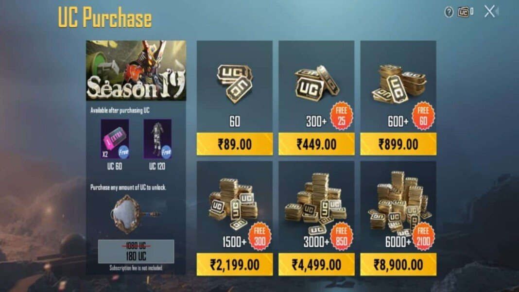 How to Top-up UC in Battlegrounds Mobile India