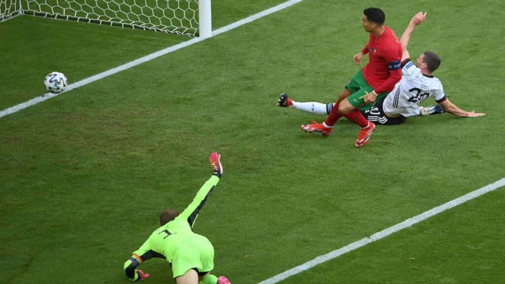 Ronaldo finishes off a smooth Portuguese counter go open scoring