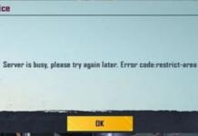 Fix 'Server Busy restrict area' error code in BGMI