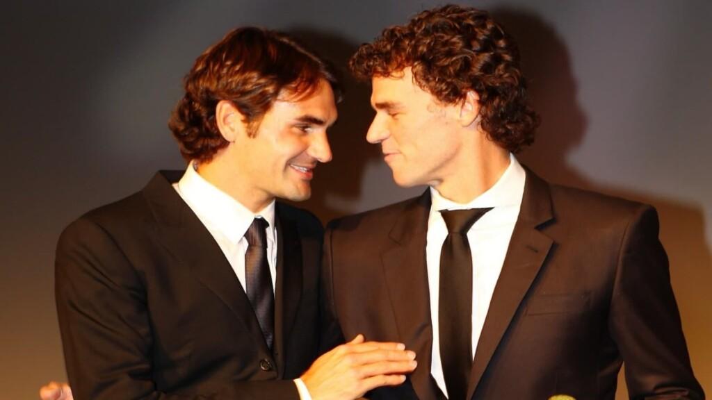 Roger Federer and Gustavo Kuerten